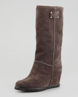 Standard Supply Logo Suede Wedge Knee Boot, Gray   MARC by Marc Jacobs   Grey