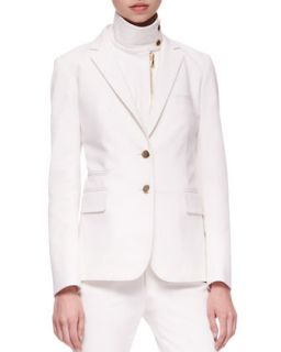 Womens Jacket with Removable Dickey   Veronica Beard   White (10)