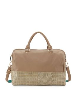 Essex Faux Leather Snake Print Weekender Bag, Hunter   Deux Lux