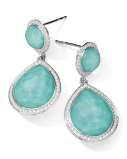 Stella 2 Stone Drop Earrings in Turquoise Doublet with Diamonds   Ippolita