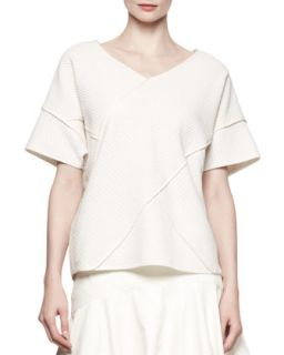 Womens Oversized Cross Seamed Shirt   10 Crosby Derek Lam   Cream (MEDIUM)