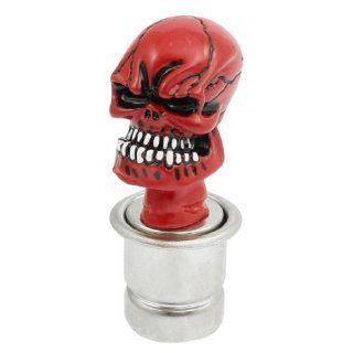 Universal Fit Red Wicked Craved Skull Car Cigarette Lighter Plug Socket: Automotive