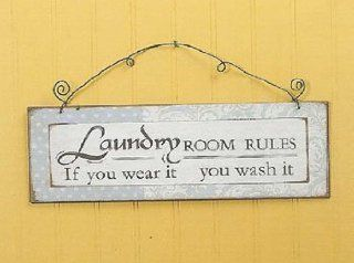 Laundry room Rules Sign You Wear You Wash   Decorative Plaques