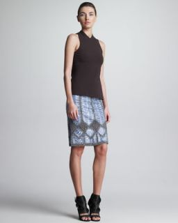 Womens Macrame Sea Snake Skirt   Derek Lam   Ink (L)