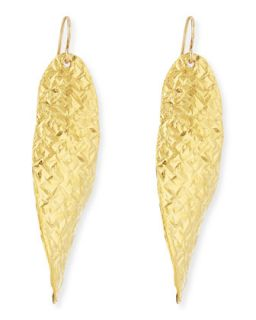 18k Gold Dipped Textured Wave Earrings   Devon Leigh   Gold (18k )
