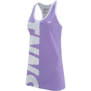 NIKE Womens TNNS Tennis Tank   Size: XS/Extra Small, White/lilac