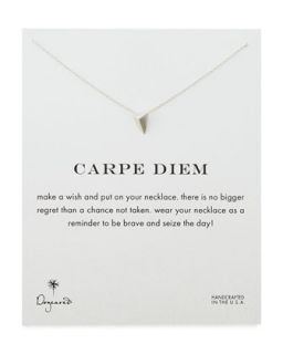 Carpe Diem Silver Plated Necklace   Dogeared   Silver