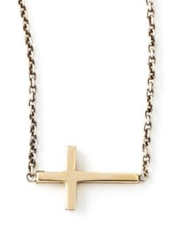 Integrated Gold Cross Pendant Necklace   Zoe Chicco   Multi colors