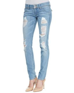 Womens Collin Distressed Skinny Jeans, Soul Search   Hudson   Soul search (25)