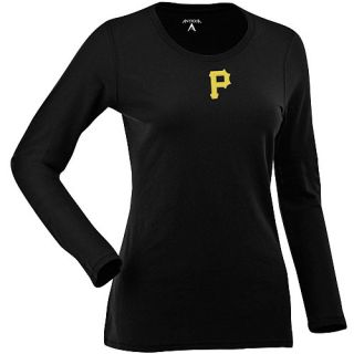 Antigua Pittsburgh Pirates Womens Relax Shirt   Size: XL/Extra Large, Black