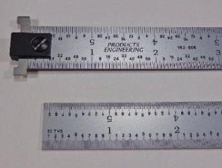 "PEC Tools 6"" Hook Rule 16R rigid zero glare machinist ruler reads 1/50"", 1/100"", 1/32"", 1/64"": Construction Rulers: Industrial & Scientific"