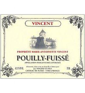 Jean jacques Vincent Pouilly fuisse Marie antoinette Vincent 2010 750ML: Wine