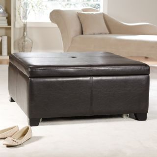 Belham Living Corbett Coffee Table Storage Ottoman   Square   Coffee Tables