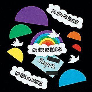God Keeps His Promises Rainbow Magnet Craft Kit (1 dz): Toys & Games