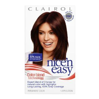 Clairol Nice 'n Easy Color, 119C Dark Spice (Pack of 3)  Chemical Hair Dyes  Beauty