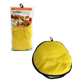 "Tortilla Warmer 12""   Insulated Fabric Pouch by Camerons   Keeps warm for one hour after just 45 microwave seconds (Yellow): Kitchen & Dining"