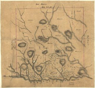 Land grants, Louisiana, Sabine & De Soto Parish Map of Las Ormigas Grant, Sabine   Wall Maps