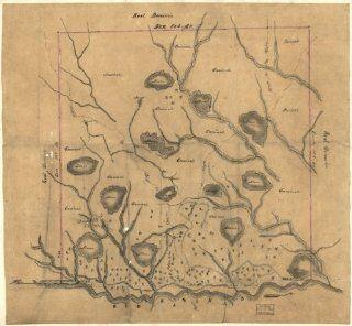 Land grants, Louisiana, Sabine & De Soto Parish Map of Las Ormigas Grant, Sabine   Wall Maps