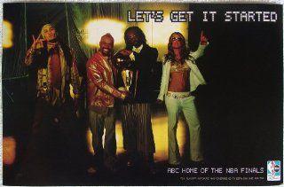 The Black Eyed Peas   Lets Get It Started   Poster   Elephunk   New   Rare   Fergie   Stacy Ann Ferguson   Wild Orchid   will.i.am   William James Adams, Jr.   apl.de.ap   Allan Pineda Lindo, Jr.   Tribal Nation   Atban Klann   NBA   Artwork
