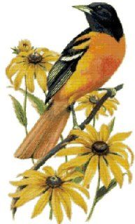 Maryland State Bird and Flower Baltimore Oriole and Black eyed Susan Counted Cross Stitch Pattern: Arts, Crafts & Sewing