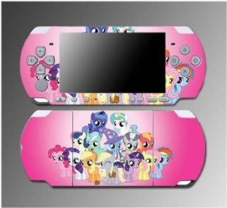 My Little Pony Friendship is Magic Cutie Mark MLP Video Game Vinyl Decal Sticker Cover Skin Protector 2 Sony PSP Slim 3000 3001 3002 3003 3004 Playstation Portable Toys & Games