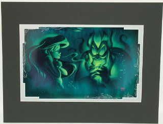 Disney WonderGround Gallery The Little Mermaid Ariel and Ursula Matted Print