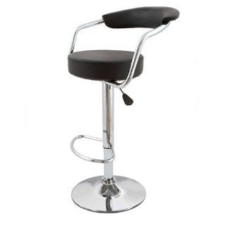 Omicron Black Kitchen Padded Salon Bar Stool   Barstools With Backs