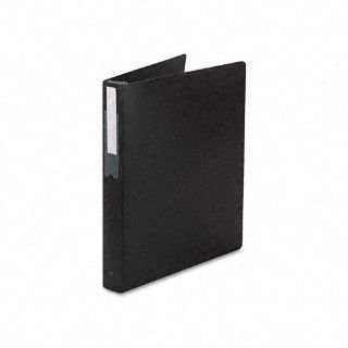 """Avery Products   Avery   Hanging File Poly Ring Binder, 1"""" Capacity, Black   Sold As 1 Each   Pull retractable storage hooks out to lock rings and hang file away neatly; tabs push in to open rings for easy document removal.   Hanging storage hooks ret"""