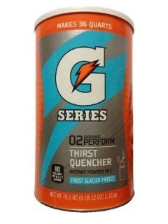 Gatorade Powdered Drink Mix   Makes 9 Gallons   Frost Glacier Freeze  Sports Drinks  Grocery & Gourmet Food