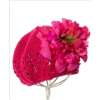 ~ Jamie Rae Crochet Raspberry Peony Hat *Many Peony Colors!* Baby (0m/18m) Pink: Clothing