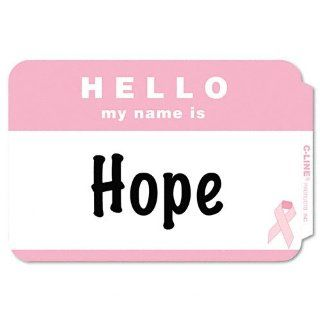 C Line Products   C Line   Self Adhesive Pink Ribbon Name Badges, 2 1/4 x 3 1/2, Pink, 75/Box   Sold As 1 Box   Support the search for a cure with these badges that feature the pink ribbon symbol.   25 cents from the sale of each box will be donated to sup
