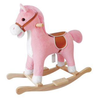 Charm Lil Pink Rocking Horse with Sound   Rocking Toys