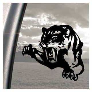 Cougar Pounce Mean Cat Growl Snarl Black Decal Car Sticker