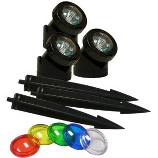 Alpine Power Beam 23 ft. Cord with Color Lenses   Set of 3   Water Fountain Accessories