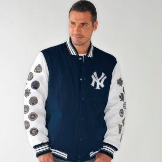 New York Yankees Box and 1 World Series Champs Commemorative Canvas Jacket  Sports Fan Jackets  Sports & Outdoors