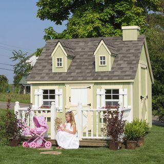 Little Cottage 6 x 8 Cape Cod Wood Playhouse   Outdoor Playhouses