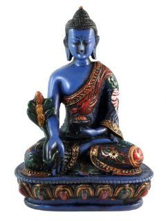 Medicine Buddha Meditating Blue Statue for Peace and Relaxation : Automobiles : Everything Else