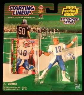 CHARLIE BATCH / DETROIT LIONS 1999 2000 * EXTENDED SERIES * NFL Starting Lineup Action Figure & Exclusive NFL Collector Trading Card Toys & Games
