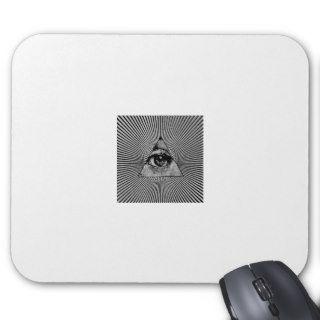 Illuminati All Seeing Eye Masonic Mouse Pad