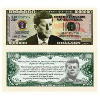 John F Kennedy Million Dollar Bills Case Pack 100: Toys & Games