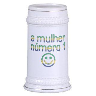 A Mulher Número 1   Number 1 Wife in Brazilian Coffee Mug