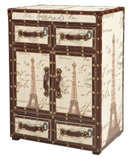Eiffel Tower Trunk Cabinet   Storage Trunks