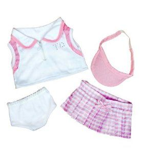 """Tennis Girl Teddy Bear Clothes Outfit Fits Most 14""""   18"""" Build a bear, Vermont Teddy Bears, and Make Your Own Stuffed Animals: Toys & Games"""