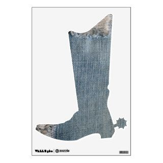 Blue Jean Photo Cowboy Boot Wall Decal