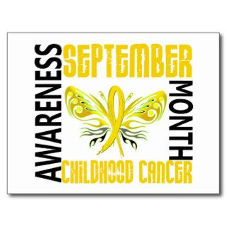 Childhood Cancer Awareness Month Butterfly 3.4 Postcard