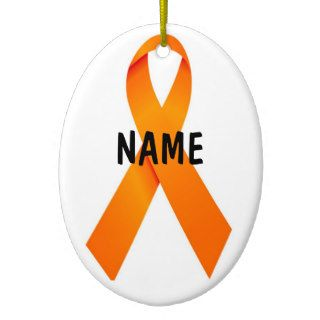 Leukemia Christmas Ribbon Tree Christmas Tree Ornament
