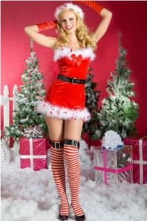 Womens SM/MED (4 8)  Mrs Claus Sexy Outfit: Clothing