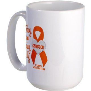 CafePress Missing My Grandson 1 LEUKEMIA Large Mug Large Mug   Standard: Kitchen & Dining