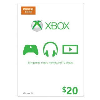 Xbox $20 Gift Card [Online Game Code]: Video Games