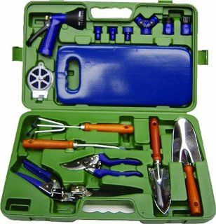 The Rumford Gardener AMW5000 16 Piece Tool Set with Molded Case  Patio, Lawn & Garden